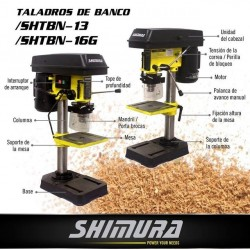 Taladro De Banco Shimura 350w 13mm