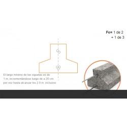 Vigueta Serie 0   1.00 A 2.80 C/20cm