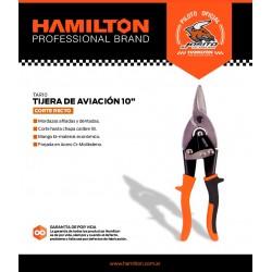 Tijera Aviacion Recta 10  Hamilton