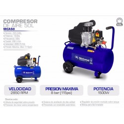 Compresor Motomel 50l Mca50t