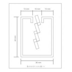 Perfil De Terminacion Rectangular Para Chapa Perforada 3 Metros