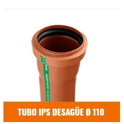 Tubo Ips Desague 110 X 4000
