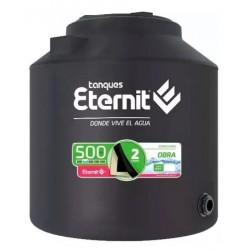 Tanque Eternit Bicapa Obra Negro 500 Lts